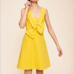 🎉HP🎉 Tara Jarmon Yellow Bow Dress